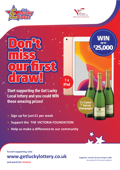 JOIN Get Lucky Local Lottery and support The Victoria Foundation