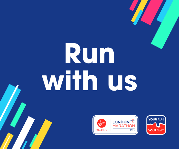 Run in aid of TVF in the Virtual Virgin Money London Marathon on 3rd October 2021